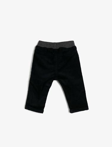 Koton Kids Beli Bağlamalı Pantolon Lacivert